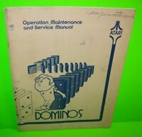 Dominos ORIGINAL Atari Video Arcade Game Machine Service Repair Manual 1977