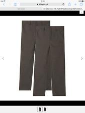 Debenhams Kids Pack Of Two Boy'grey Flat front School Trousers size 16 years