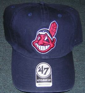 Cleveland Indians LICENSED Chief Wahoo Brand 47 Baseball Cap Blue BRAND NEW