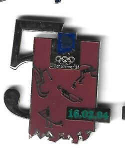 1994 Lillehammer Olympic Pin Day 5 Luge Hockey Speed Skating Freestyle Skiing