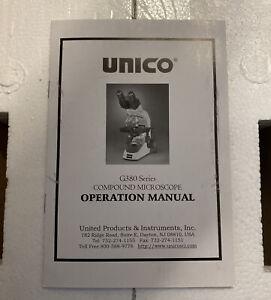 Unico G380 Compound Microscope w/Four Achromatic Objectives 4x/10x/40xr/100xr
