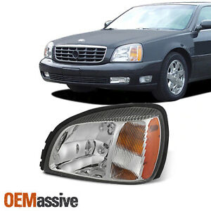 For 2000-2005 Cadillac Deville [OE Style] Headlight w/ Amber Side Driver Left