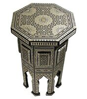 Handmade Moroccan Mother Of Pearl Table