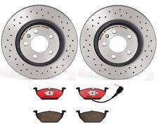 Brembo Front Brake Kit Drilled Disc Rotors Ceramic Pads for VW Beetle Golf Jetta