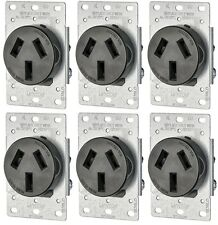(6-Pack) Receptacle Flush Mnt 50a