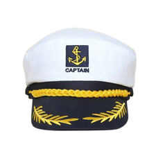White Sailor Ship Boat Captain Hat Navy Marins Admiral Adjustable Cosplay Cap