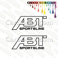 "2 of 8"" ABT Sportsline aftermarket car bumper window vinyl sticker decal die cut"