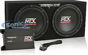 MTX Audio TNP212D2 Terminator Dual Car Subwoofer Package + Amplifier (Open Box)