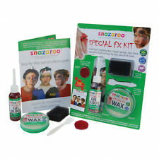 HALLOWEEN PARTY  SNAZAROO SPECIAL EFFECTS FX MOULDING WAX BLOOD STARTER KIT
