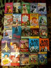 CHAPTER BOOKS FOR BOYS AGES 7-10! BOXCAR CHILDREN,BAD GUYS,WHO WAS,PB LOT OF 25