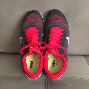 NIKE Free Run 3 Women's Athletic Shoes Running Walking Pink Charcoal White Sz 9