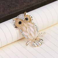 Womens Stylish Sparkling Crystal Owl Pendant Necklace Chain