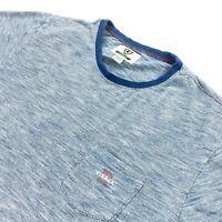 Vissla Men's Short Sleeve Ringer Pocket T-Shirt Heather Blue • Medium