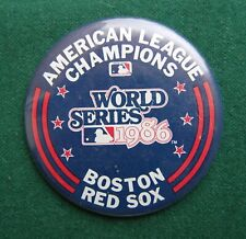 80s Boston Red Sox Pin Badge - Vintage Sports Memorabilia Baseball Usa American