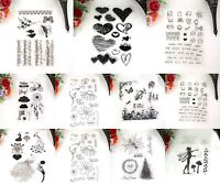 Silikonstempel Stempel Clear Stamp Scrapbooking DIY Basteln Briefm..