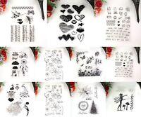 Alphabet Emoji Transparent Clear Rubber Stamp Diary Scrapbooking Decor DIY Craft