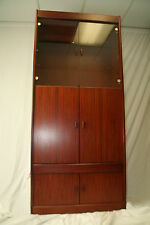 PAIR OF MCM VINTAGE ROSEWOOD PALISANDER LIGHTED MATCHING CABINETS~BOOKSHELVES