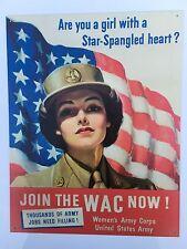 Tin señal Letrero De Metal Usa Diner Bar Cueva arte pared de la mujer del Ejército Corp de América