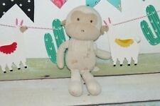 "John N Tree Organics Monkey Beige Tan Stuffed Animal Terry Plush 11"" Baby Toy"