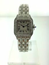 "GENUINE Cartier Ladies Panthere DIAMONDS EVERYWHERE ""ORIGINAL PAPERS"""