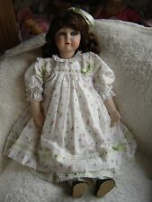 """Lilian Middleton Reproduction Porcelain doll in beautiful clothing. 22"""" tall"""