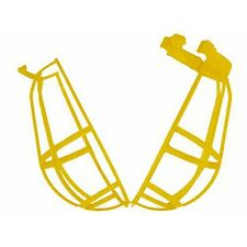Lot of 3 Light Bulb Protection Guard Cage Yellow, Impact resistant thermoplastic