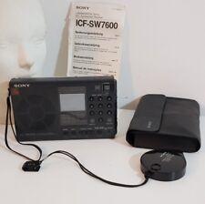 Sony  ICF - SW 7600 Weltempfänger mit Tasche und Bedienungsanleitung