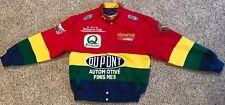 Vtg 90s Jeff Hamilton Nascar Jeff Gordon Rainbow Racing Jacket Men's Size Small