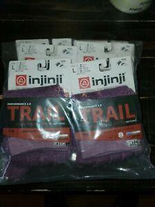 Injinji Toe Socks 6 PACK Trail Performance 2.0 Mid weight L micro length