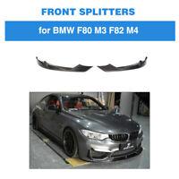 Carbon Fiber Front Bumper Splitters Bodykit Fins For BMW F80 M3 F82 M4 14-17