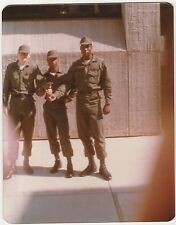 Vintage 70s Photo Trio Young Military Army Men Guys In Uniforms