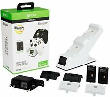 PDP Energizer XBOX One Controller Dual Charging Station Dock White with Battery