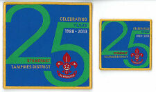 25 Years of SINGAPORE SCOUTING 1988 - 2013 TAMPINES DISTRICT SCOUT Patch & BP