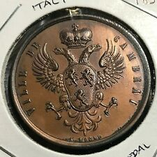 1854 ITALY CAMBRA INAUGURATION MEDAL BRILLIANT UNCIRCULATED WITH LOOP