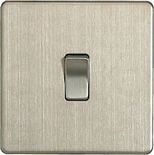 Satin Stainless Steel 1-Gang Switches Light Switche Home Electrical Fittings