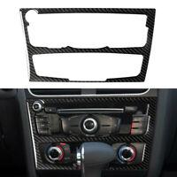Carbon Fiber Console AC/ CD Panel Frame Cover Trim For 2010-2016 Audi A4 B8 A5