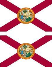 set of 2x sticker vinyl car bumper decal macbook flag florida usa american