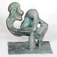 "Kunst Skulptur ""KAMPF"" 18cm Unikat Andreas Loeschner-Gornau"