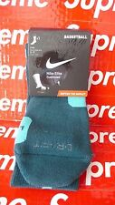Nike BASKETBALL Elite Cushioned Sock Crew Teal Green Turquoise sz 8-12 NBA