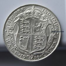 1916 King George V Half Crown Coin. 92.5% SILVER Birthday  Anniversary BQ