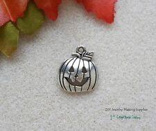 Jack O Lantern Halloween Pumpkin Charms 8pc for Jewelry Making Supply Lead Free