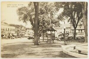 Union Square Milford New Hampshire Postcard car Antique