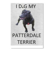 I Dig My Patterdale Terrier Sticker - Portrait