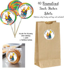 40 CAILLOU Personalize STICKER Labels, Lollipop goody bag birthday party favors