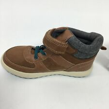 OshKosh B'Gosh Toddler Boy's Sneakers Shoes Lace-Up High Top Brown Size US 12