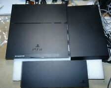 Sony PS4 CUH-1215A 3-Piece Bottom Case & 2 Top Covers-NO Button-Good-Clean-READ