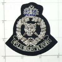 Malaysia Royal Police Insignia Patch Hand Embroidered Polis Diraja