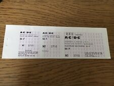 ticket concert AC/DC Collector Janvier 1981