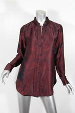 DAY BIRGER ET MIKKELSEN Womens Black+Red Paisley Print Silk Blouse Top 38 NEW