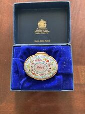 """Halcyon Days 1994 """"A Year to Remember"""" porcelain enamel box New In Box"""